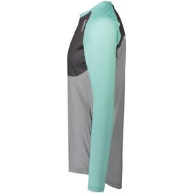 POC MTB Pure Langarm Trikot Herren light fluorite green/sylvanite grey/alloy grey